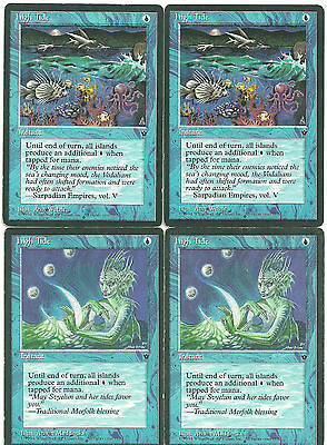 mtg Magic 4x High Tide  ( High Tide )  English POOR+ Fallen Empires