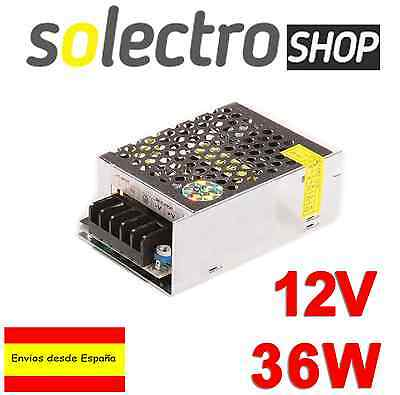 Fuente de alimentación DC 12V 3A 36W TIRA LED Switching Power Supply