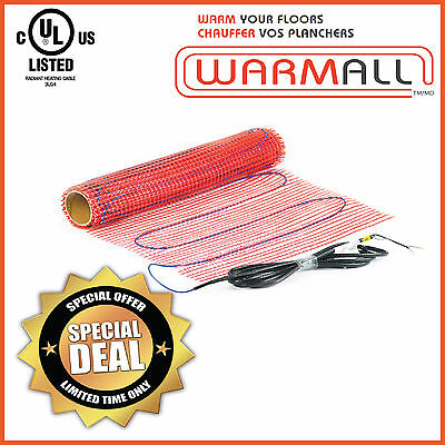 Warm All Electric Tile Floor Heating Mat Radiant - 120V - 15 Sq/Ft. - Mesh Only