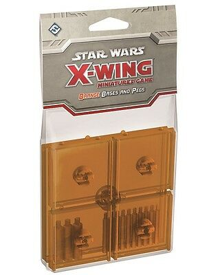 Star Wars X-Wing: Orange Bases and Pegs Expansion Pack - SWX47 *NEU & OVP*