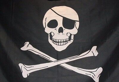 cross skull pirate FLAG 3x5 Feet Super-Poly Indoor/Outdoor Skeleton Banner decor