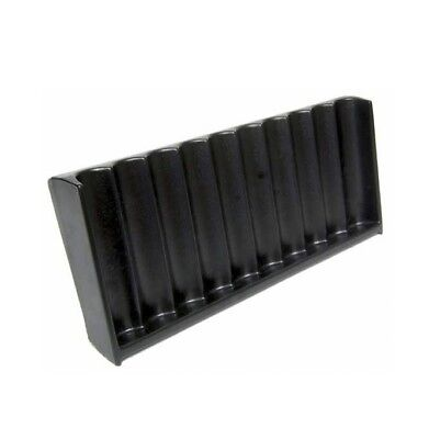 Vertical ABS Black Craps Chip Tray (10 Row / 500 Chip)