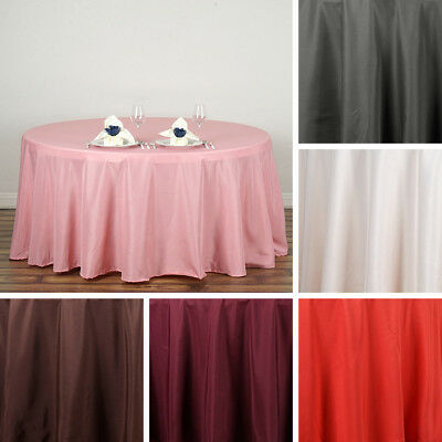 "36 pcs Wholesale Huge Lot 120"" ROUND POLYESTER TABLECLOTHS Wedding Linens SALE"