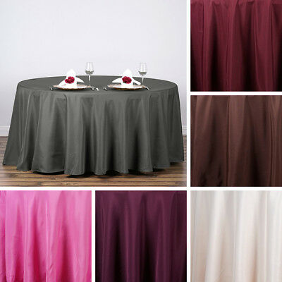 "24 pcs Wholesale Lot 120"" ROUND POLYESTER TABLECLOTHS Wedding Party Decorations"