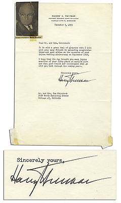 Harry S. Truman Typed Letter Signed from 1955