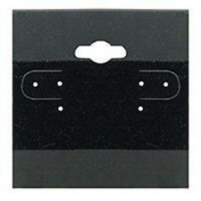 """200 Jewelry Earring Display Cards Black Flocked Hanging Price Tags 1.5 X 1.5"""""""