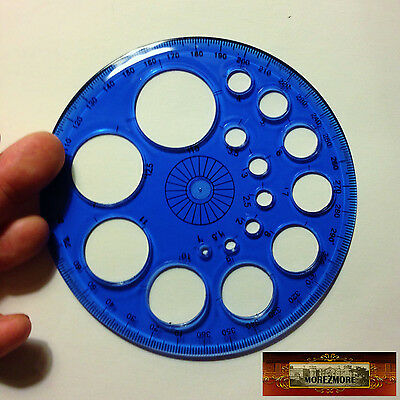 M01027-Blue MOREZMORE Circle Bead Sizer Round Hole Template Plastic Ruler T20A