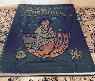 Antique Vintage Stories from the Bible Childrens Illustrated Book M.A. Donohue