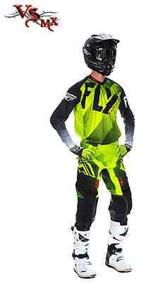 SALE Fly Lite Hydrogen Kit Lime Black White PANT, JERSEY OPTIONAL GLOVES MX KIT