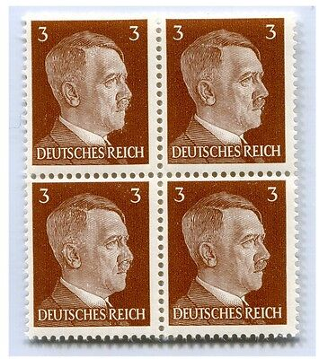 German Wwii Hitler Head Stamp Of 4 Stamps 3 Rpf Value (P-33-4)