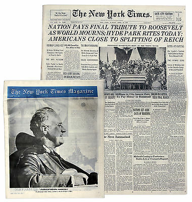 Nation Pays Final Tribute to FDR 4/15/45 New York Times