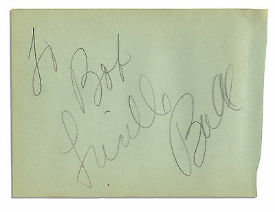 Large Pencil Vintage Full Signature of Lucille Ball