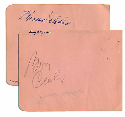 Bing Crosby & Thomas Mitchell Each Signed Album Page