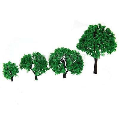 4pcs Garden Scenery Layout Model Tree 4-10cm Scale Z