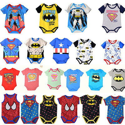 Superhero Newborn Baby Romper Girl Boys Cosplay Party Outfit Clothes Top Costume