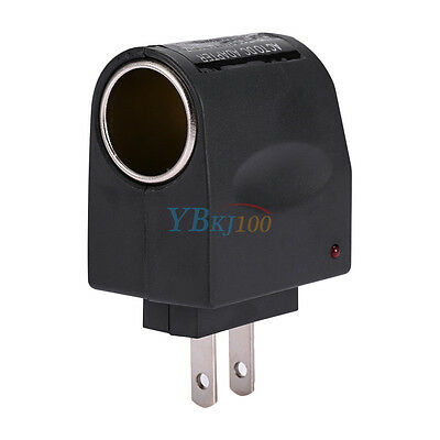 AC Wall Power to 12V DC Cigarette Power Outlet Adapter Converter Lighter US Plug