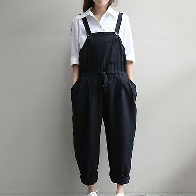 New Pregnant Women Playsuits Loose Jumpsuit Comfy Overalls Maternity Trousers