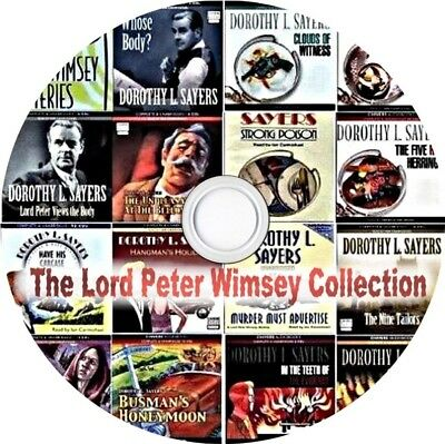 Lord Peter Wimsey 15 Mysteries Complete Audio Book Collection 132 Hrs MP3 on DVD