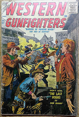 Vintage Western Gunfighters Comic August 1957 # 27 Final Issue