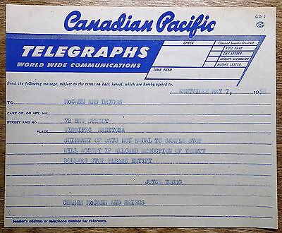 Vintage 1958 Canadian Pacific Telegraph Railroad McCann and Briggs Railway CPR