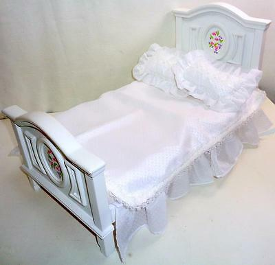 "Sweet Dreams Doll Bed + Linens Tonner Marley Wentworth for 10"" - 14"" Dolls BJDs"