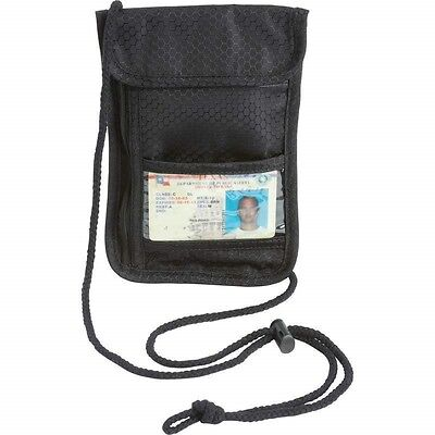Secret Security Neck Strap Bag Hidden Passport Case Travel Wallet Money Holder