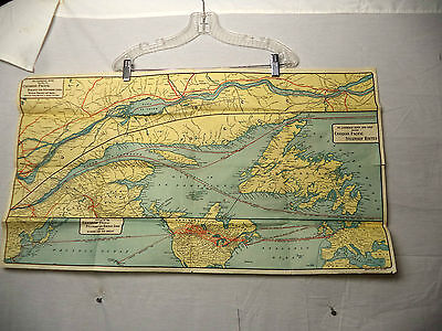 1927 Canadian Pacific Railway Steampship Lines Map Montreal Quebec Orient Europe