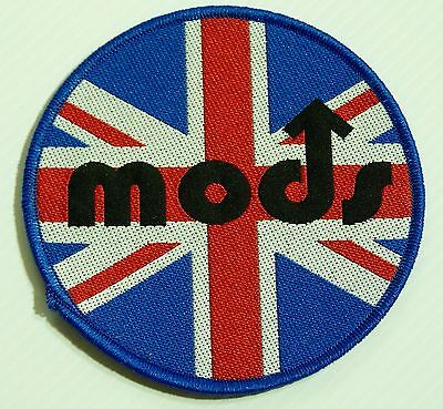Genuine Vintage The Mods Embroidered Jacket Patch Metal Band Sew-On Cloth Badge