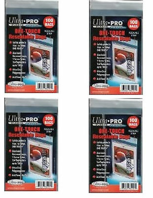 Ultra Pro Resealable One Touch Card Holder Sleeves 400 count lot Brand New