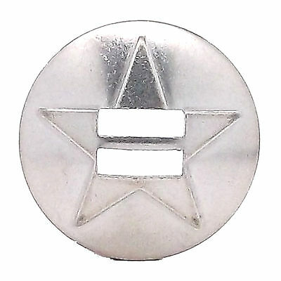 Star Slotted Concho Stainless Steel 1.25/""