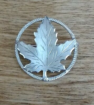 Sterling Silver Canadian Maple Leaf Brooch Pin