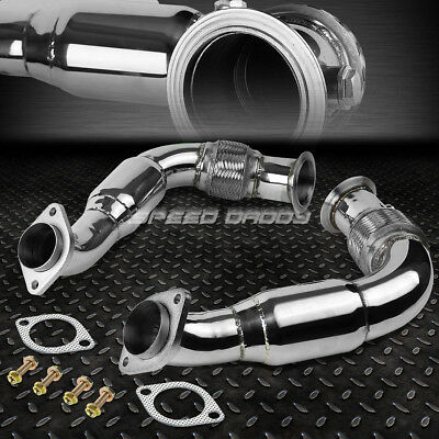 Stainless Turbo Downpipe Exhaust For 08-14 Bmw X6/x5/5-/7-Series N63B44 4.4 V8
