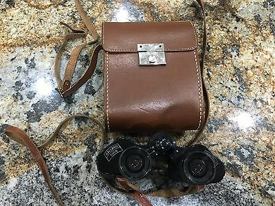 VTG Made In France Binoculars 8 x 26 Balland Paris Chantilly & LEATHER CASE