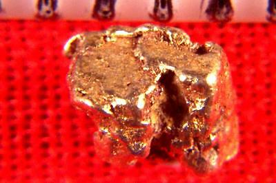 PLATINUM NUGGET CRYSTAL NATURALLY COATED WITH GOLD from RUSSIA - 2.2 Carats