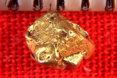 NATURAL GOLD COATED PLATINUM CRYSTAL NUGGET CUBE - 2.0 Carats -VERY RARE -RUSSIA