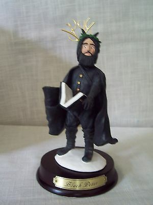 Duncan Royale History of Santa BLACK PETER Figurine Stand and Box