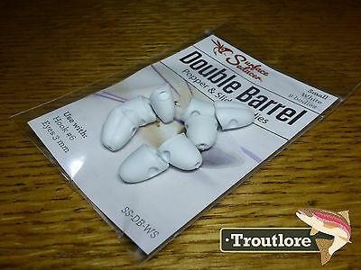 Flymen White Small Surface Seducer Foam Popper #6 - New Fly Tying Materials