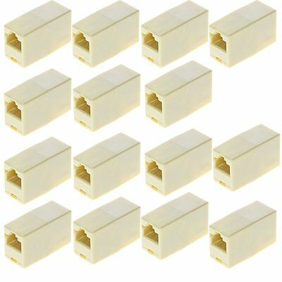 15x RJ45 CAT5e CAT6 Network LAN Cable Extension Coupler Joiner Connector ADSL 2+