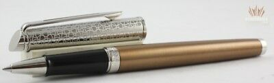 Waterman Hemisphere 16 Lux Bronze With Chrome Trim Roller Ball Pen Attractive !!