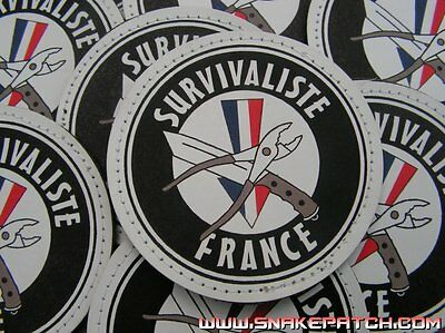 Patch Velcro PVC - SURVIVALISTE FRANCE - survie bushcraft mora light fire
