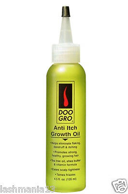 Doo Gro Anti Itch Growth Oil Helps Eliminate Flaking & Itching 4.5 Fl.Oz. 125ml