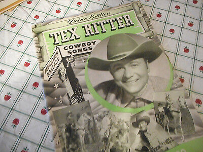 1941 Tex Ritter's Deluxe Edition Of Famous Original Cowboys Songbook