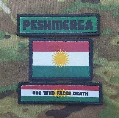 Peshmerga Kurdish Morale Patch 3 Pack set Volunteers Special Forces