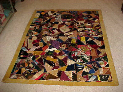1892 Crazy Quilt Wallingford Vermont Great Provenance