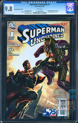 Superman Unchained #1 Cgc 9.8 - Certified Cgc 9.8 - Bermejo Lex Luther Variant