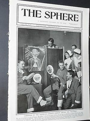 1915 THe SPHeRe-@ Charlie Chaplin,British Nurses in Serbia,Red Cross Dogs,Poland