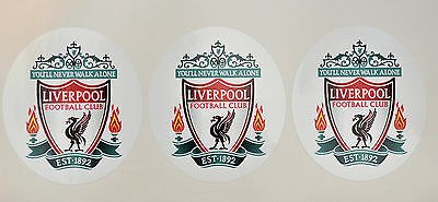3 x Liverpool Football Club stickers