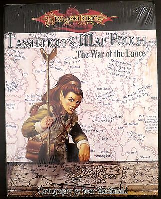 Tasselhoff's Map Pouch War of the Lance SEALED NEW - D&D 3.5 Dragonlance