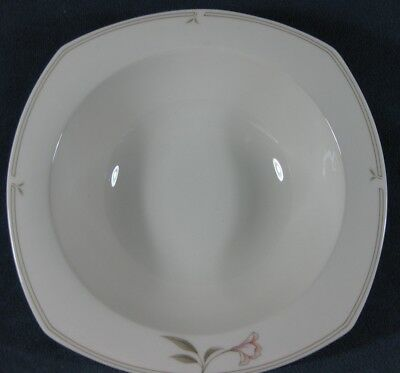 Nikko Dove Gray #323 Floral Vegetable Serving Bowl Quadrille EUC
