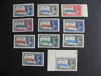 1935 Silver Jubilee 11 different MNH stamps, nice group, check them out!